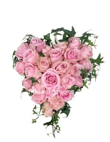 ec070eb334f6 Cuore rosa CM 40 » Acquista online fiori a Pordenone