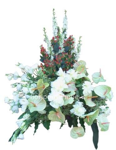 Ben noto Composizione fiori recisi in cesto ,colorazioni a scelta QO28